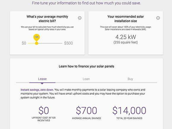 Exempel på resultat från  Google Sunroof-verktygets analys.